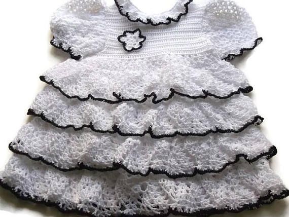 Crochet Baby Dress  Infant  preemie  Newborn  Reborn Doll