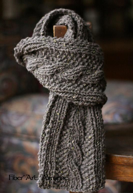Watching British Mysteries on Netflix FREE Scarf Knitting Pattern