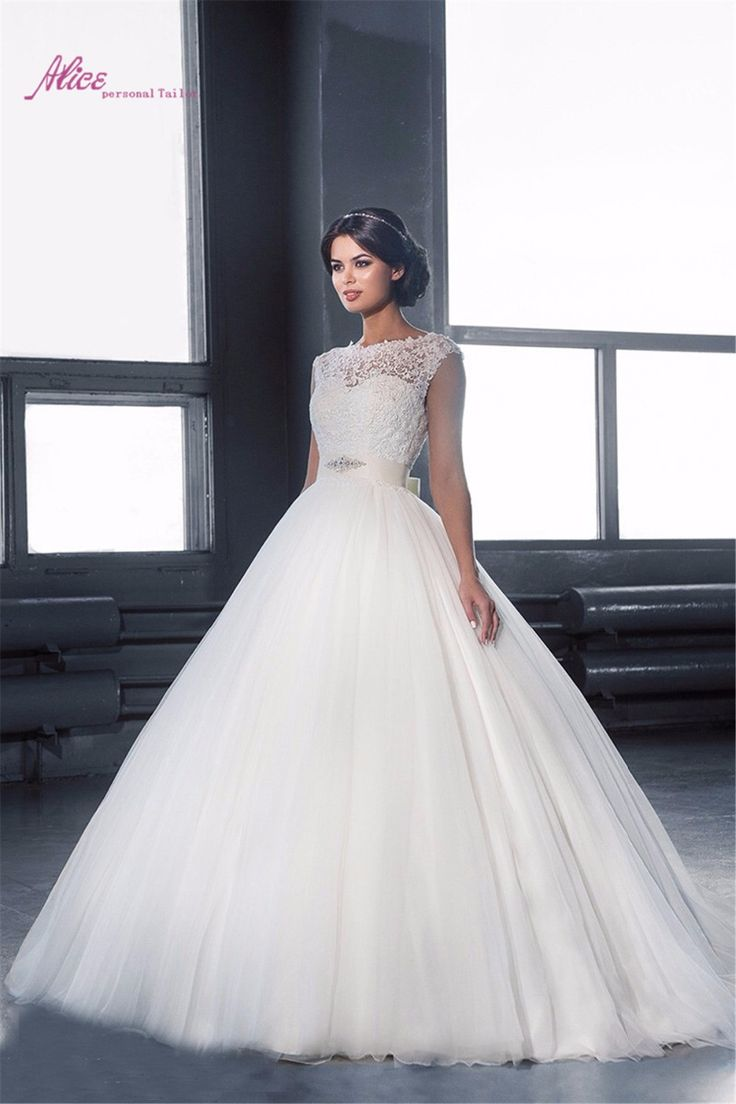 Спинки заказунаша элегантные белые кружева иллюзия бисером пояса сексуальная назад бальные платья свадебное платье Vestidos Noiva тюль 2016 QW06