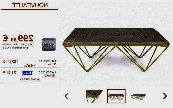 Table Basse Melvina Marbre Metal Gris Minera Di 2020