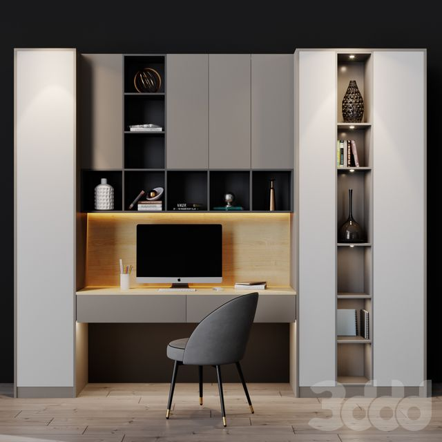 3d модели: Офисная мебель - Workplace 11 в 2020 г ...