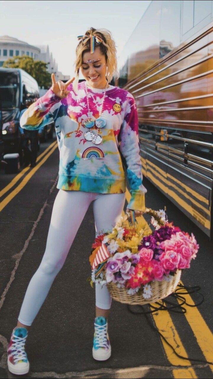 Miley Cyrus New Song Music Malibu Audio Billboard Hannah Montana Wallpaper Background Rainbow Colorful