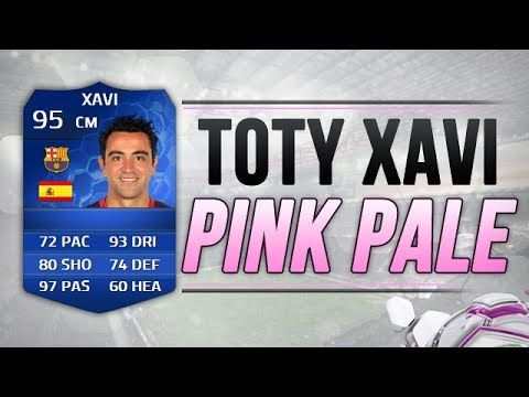 FIFA 14 UT TOTY 95 XAVI PINK PALE | FIFA 14 TEAM OF THE YEAR XAVI PINK S...