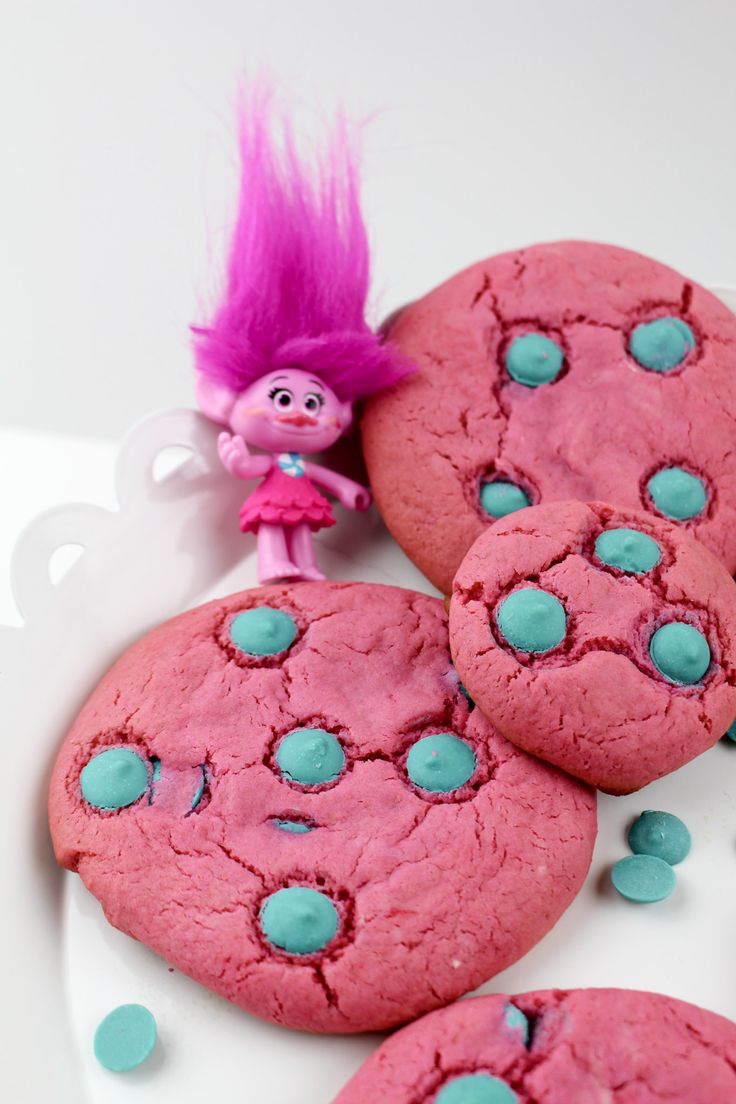 Poppy Pink Strawberry Trolls Cookies Food Trolls