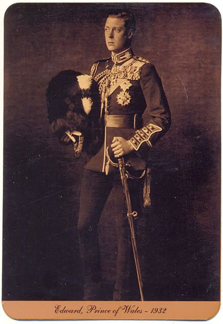 Edward, Prince of Wales in 1932 (Later to become Edward the VIII and abdicate the throne)