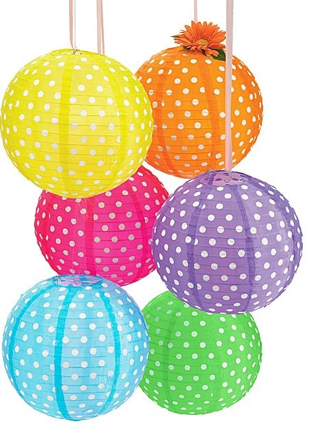polka dot lanterns