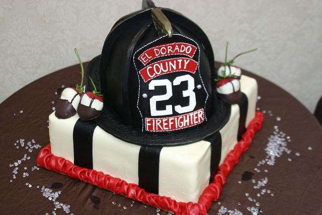 Firefighting Grooms Cake by Elegant Cheese Cakes, via Flickr