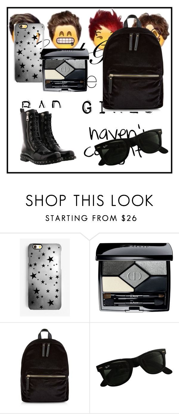 """""""sporty"""" by eredi-savastano on Polyvore featuring Rianna Phillips, Christian Dior, New Look, Ray-Ban e Dolce&Gabbana"""