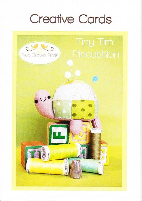 Tiny Tim pincushion pattern designed by Two Brown Birds