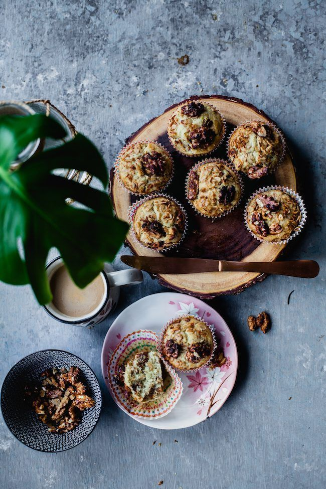 Banana, Granola Toasted Walnut Breakfast Muffins