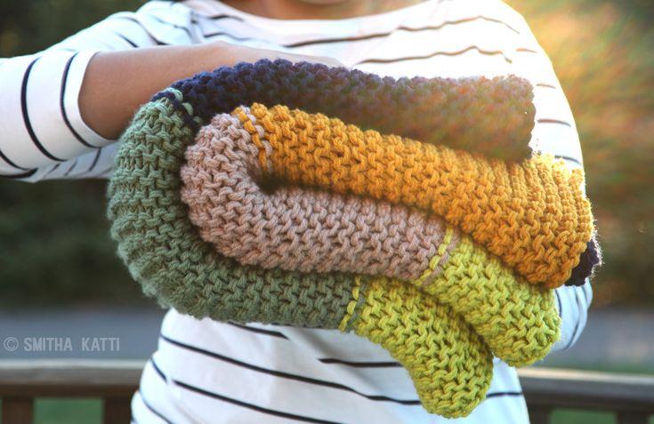 manta gruesa de tricot