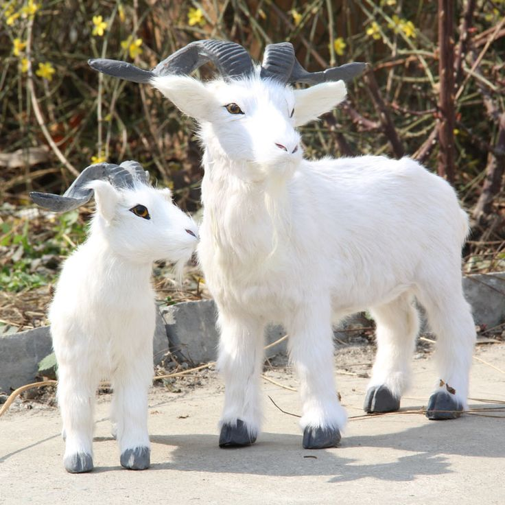 ZILIN simulated goat/fake goat model for shop decoration children cognitive products two sizes for option