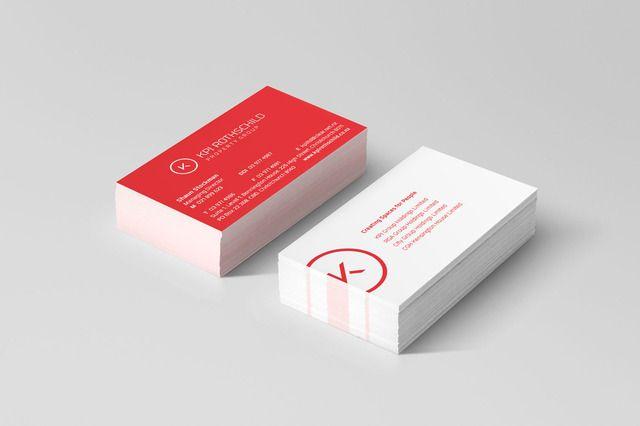 KPI Rothschild business cards graphic design by Robertson Creative, Christchurch, New Zealand.