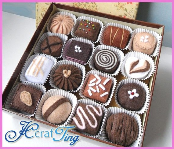 box of felt chocolates