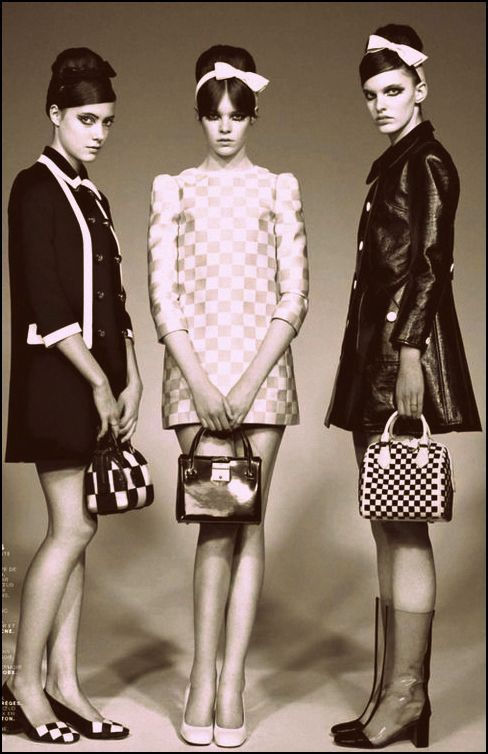 60's Fashion style inspiration #Optical Art