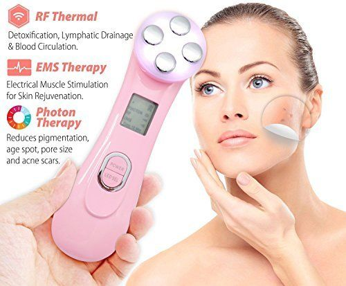 Carer Winkle Remove Machine Radio Frequency Face lifting 5 in 1 Multi-function Skin Tightening Device Face Care Massager. For product & price info go to:  https://beautyworld.today/products/carer-winkle-remove-machine-radio-frequency-face-lifting-5-in-1-multi-function-skin-tightening-device-face-care-massager/