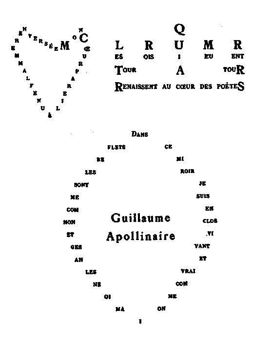 17 meilleures id es propos de apollinaire poeme sur for Coeur couronne et miroir