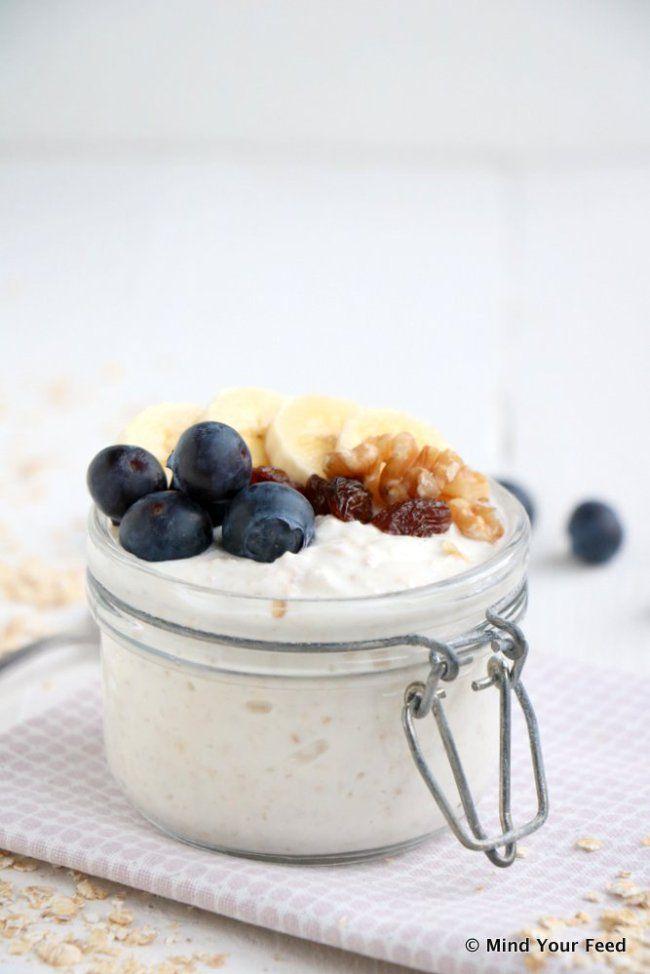 Havermout yoghurt met banaan