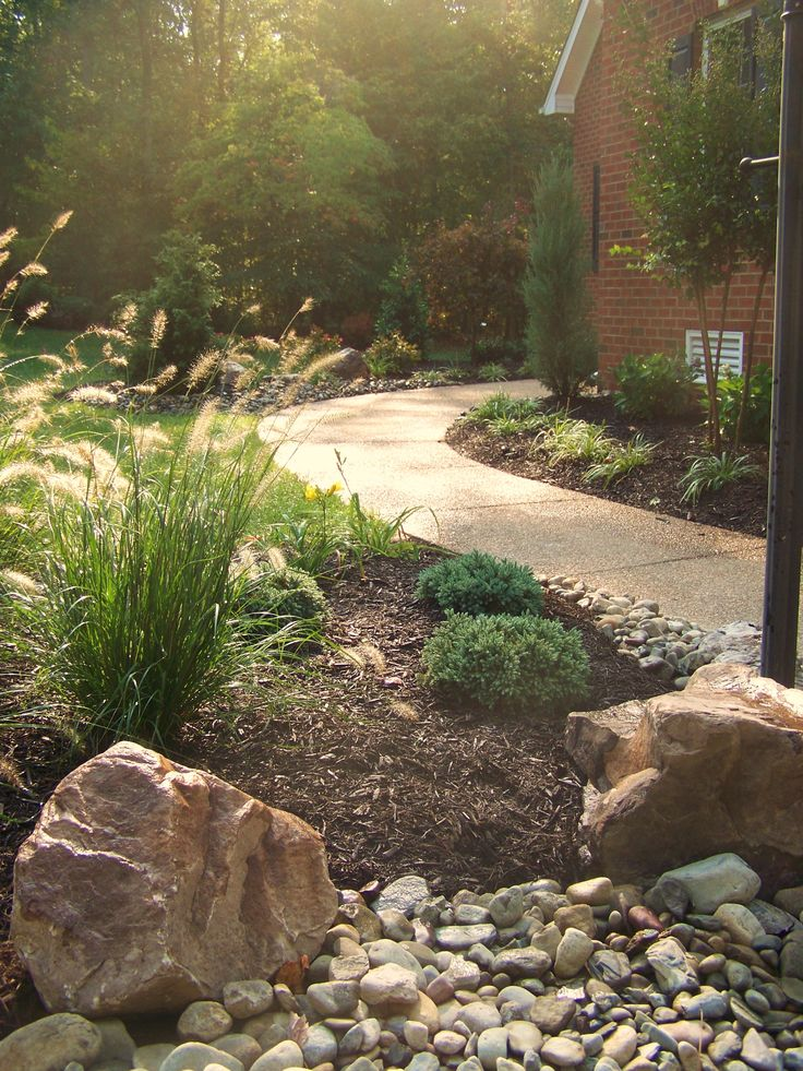 2394 best curb appeal images on pinterest landscaping for Large grasses for landscaping