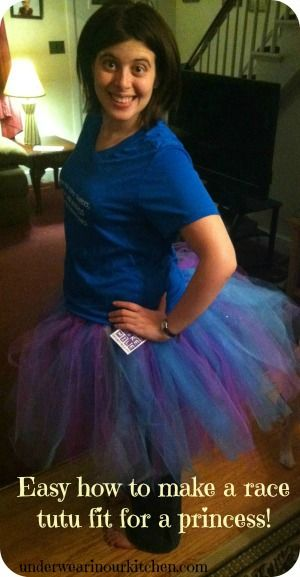 How to Make Your Own Running Tutu - Super cute and easy, a definite MUST if I ever get up the nerve to do a run!