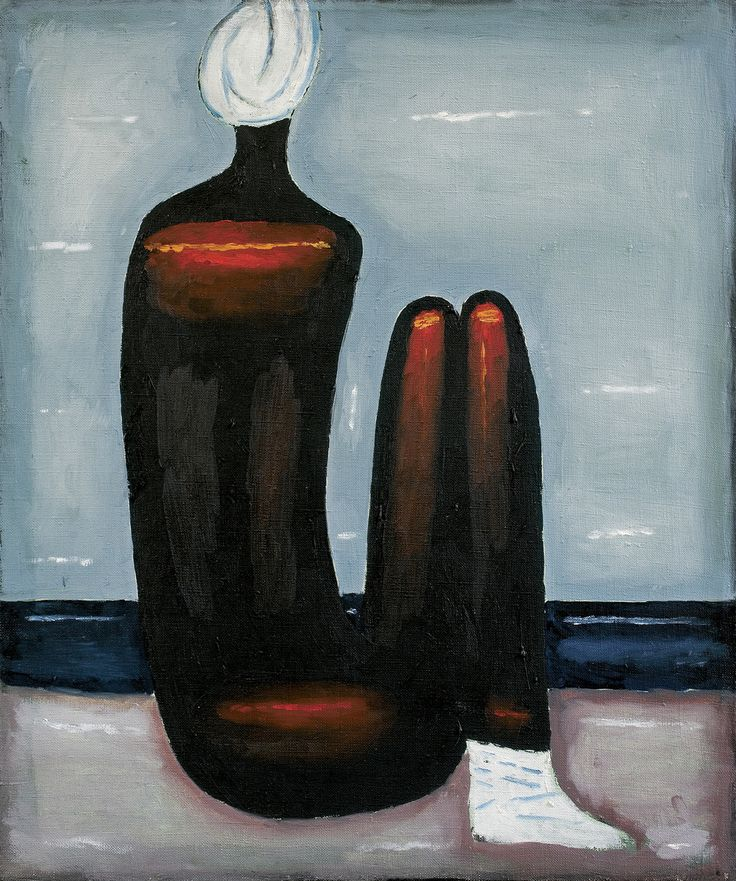 Jerzy Nowosielski | <i>AKT NA PLAŻY, 1988</i> | olej, płótno | 55 x 46 cm