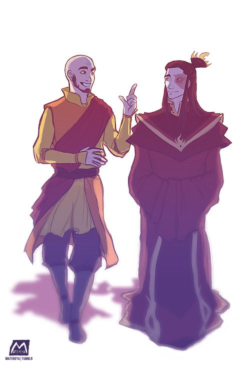 Avatar Aang and Fire Lord Zuko the dweebs, being a…