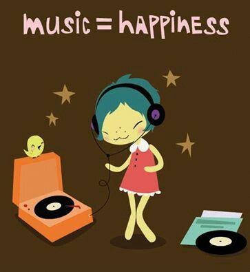 listening to music on vinyl records