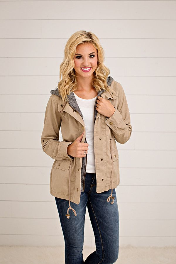 TERRY HOOD UTILITY JACKET | 3 COLORS  This jacket has us so excited for those cool fall nights! You will be wearing this all fall and winter long. This jacket h