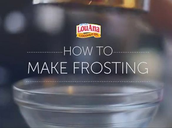 Learn how to make frosting with coconut oil by watching this video. For more coconut oil tips and recipes, visit LouAnaCoconutOil.com. Let's get cookin'!
