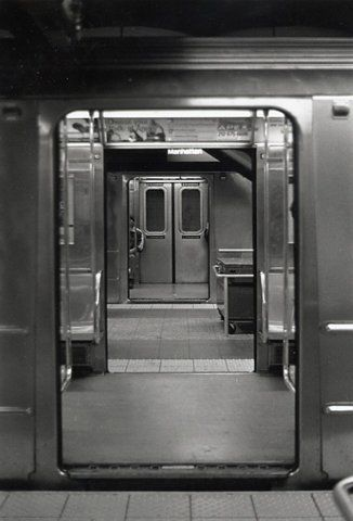 During the summer, I used to stand inside the C train at the 168th St. station waiting for an A to come. This was the view.