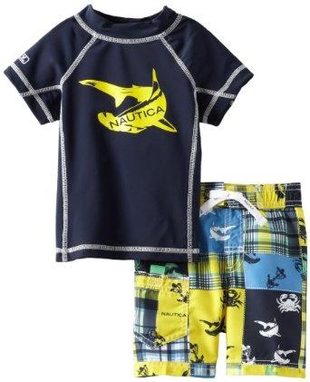 Nautica Baby-Boys Infant 2 Piece Rashguard Set --- http://www.amazon.com/Nautica-Baby-Boys-Infant-Rashguard-Months/dp/B00AEMS8N0/?tag=httpswwwf09c8-20