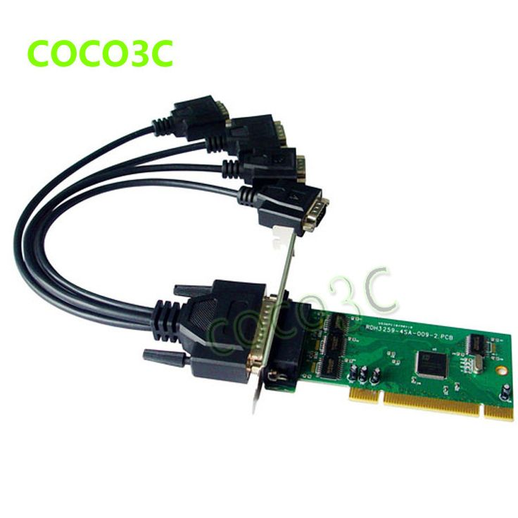 IOC845 PCI 4 ports Serial PCI card Multi RS232 DB9 COM port to PCI adapter IO Card with low profile bracket