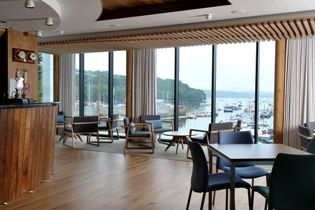 Mylor Yacht Club, Cornwall. Furniture supplied by Momentum. Interior design by 3iDog.