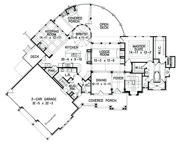 82 best home plans images on pinterest home plans, floor plans Indigo Cottage House Plan lakeview cottage house plan, 2129 w o 2 brs on main floor indigo cottage house plan