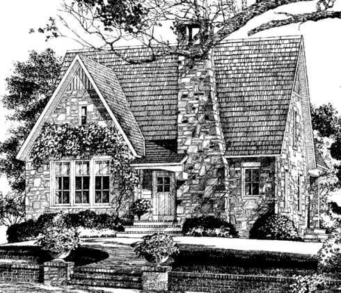 Stone Cottage House Plans | Standout Stone Cottage Plans . . . Compact to Capacious!