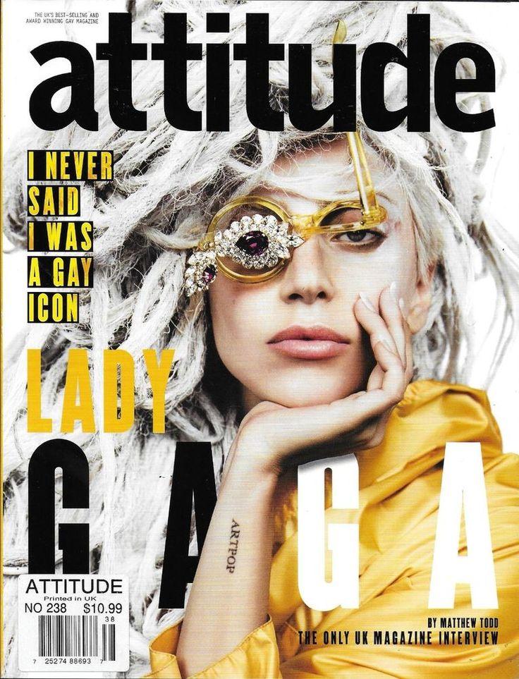 Attitude gay magazine Lady Gaga Celine Dion Lauren Harries Leonardo Corredor