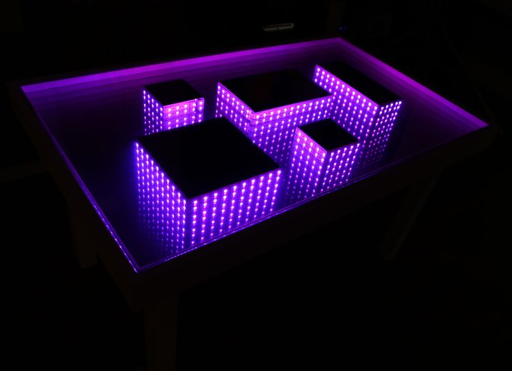 Infinity Mirror Table Quickcrafter Best Of Diy