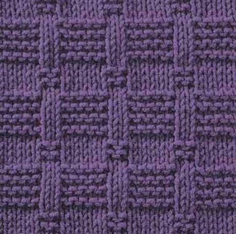 Подборка простых узоров,состоящих только из лицевых и изнаночных петель. Схема вязания узоров спицами