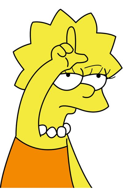 Lisa Simpson Loser Art Print