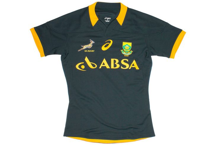 South Africa Springboks 2014/15 Home Test S/S Rugby Shirt Bottle Green
