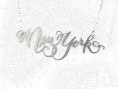 New York / Brevity {50% of the sales of this necklace will be donated to American Red Cross through Nov 7th}