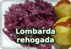 Lombarda rehogada :: receta vegetariana