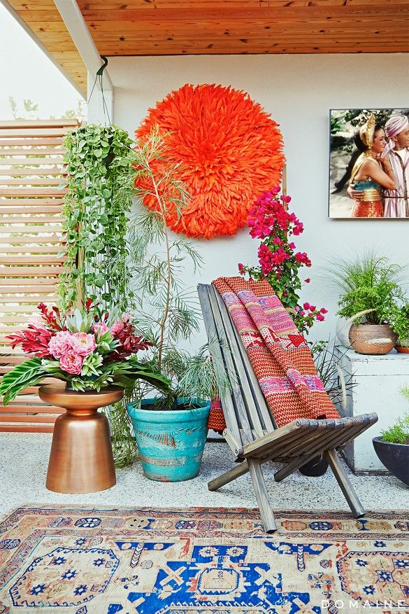 Before and After: A Celeb Hairstylist's Exotic Rooftop Remodel via @domainehome