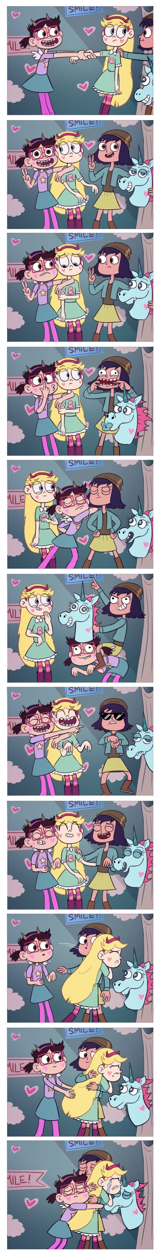I feel like Her friends would do something like this, to cheer her up after she was sad about Marco......