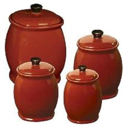 Corelle Hearthstone Chili Red Canister Set By Corelleu2026