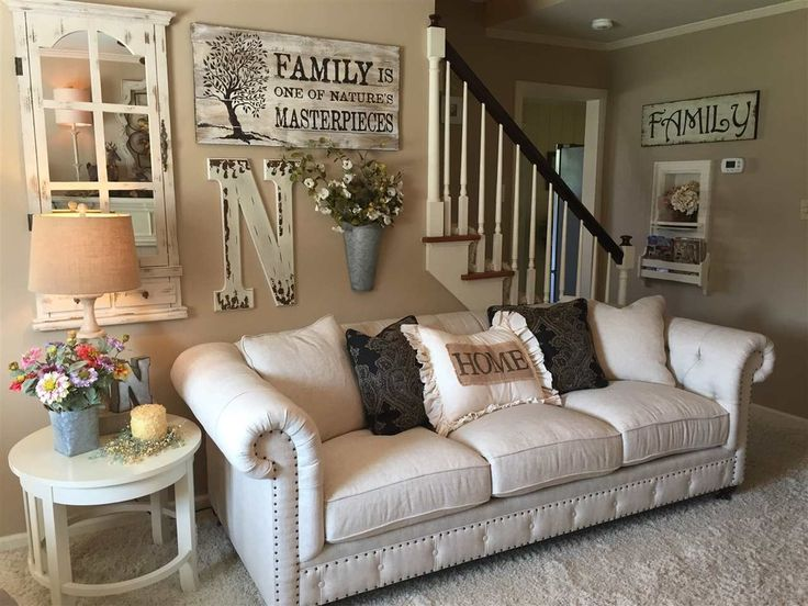 Add Lots Of Personality To Your Living Room With A Gallery Wall Think Outside The Box And Work In Things You Love Like Large Monograms Or Rustic Mirrors