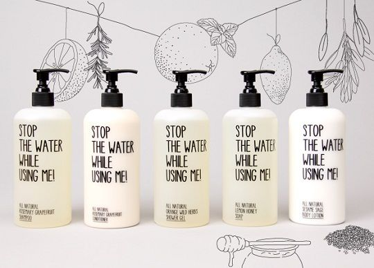 Package design of an organic cosmetic brand