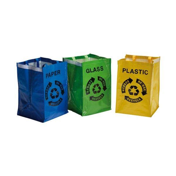 Lot de 3 poubelles de tri sacs Moovy Tri - 26685 - ROSSIGNOL