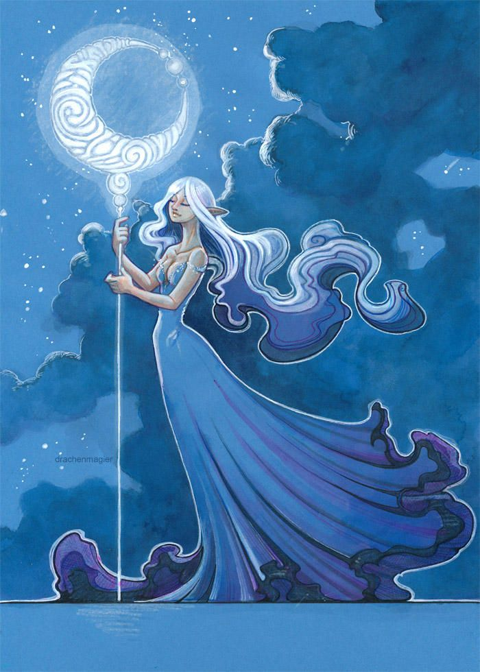 Moon Rise By Drachenmagier Moon Goddess Art Fantasy Art
