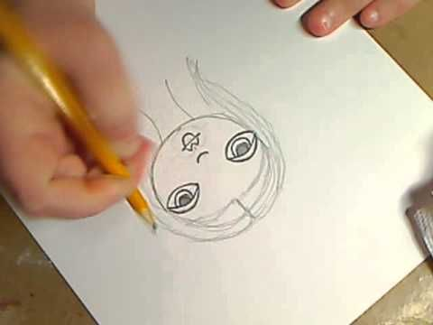 how to draw folk art girls; video tutorial by Kelly Donovan
